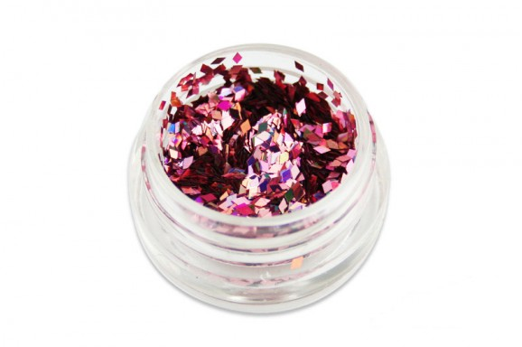nailart glitter diamantes - rose